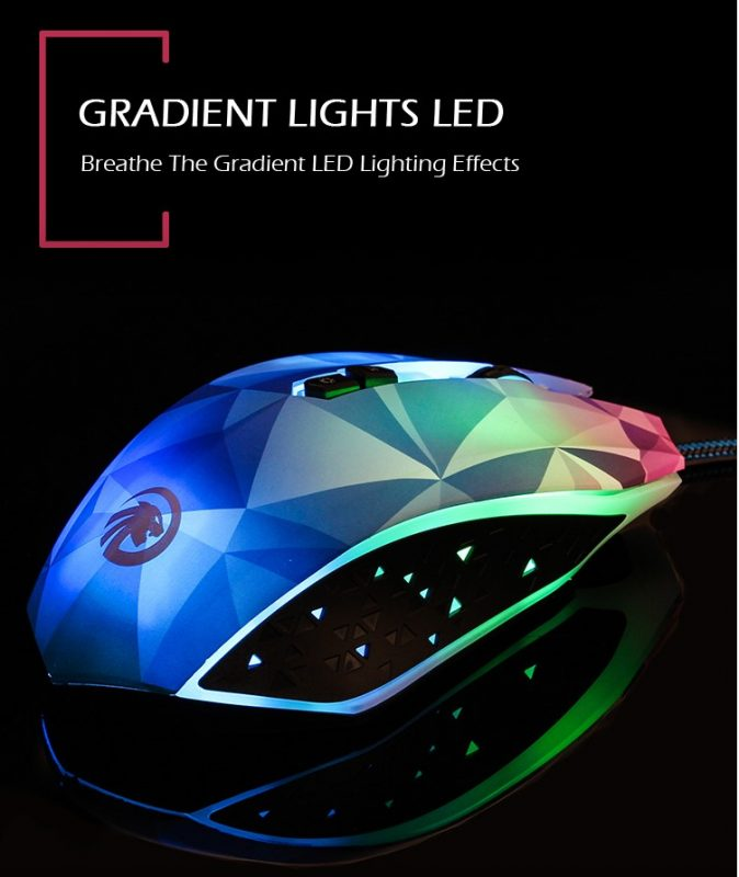 OGG Diamond Gaming Mouse lighting effects