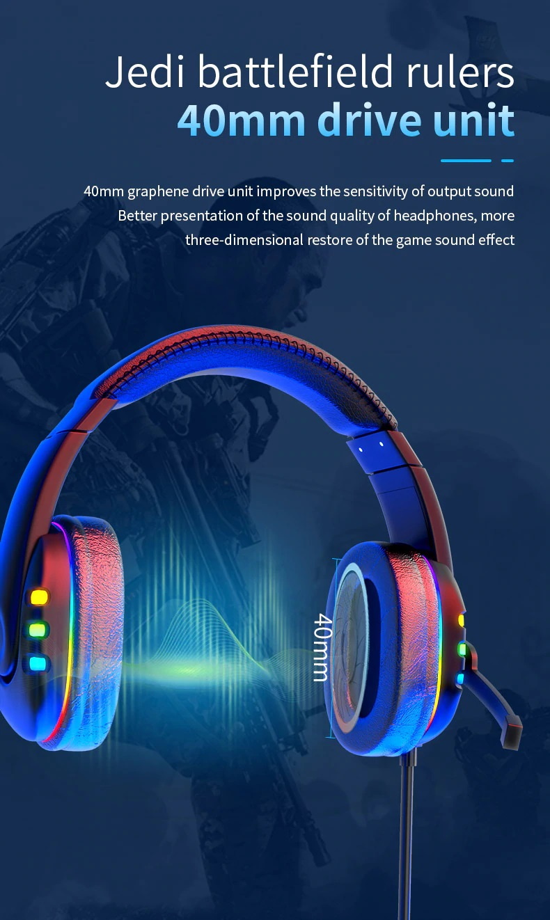 OGG Pro gaming headset 40mm