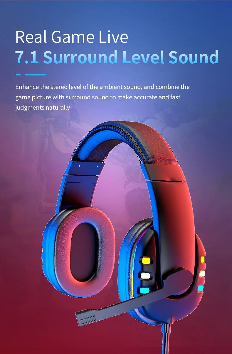 OGG Pro gaming headset 7.1 surround sound