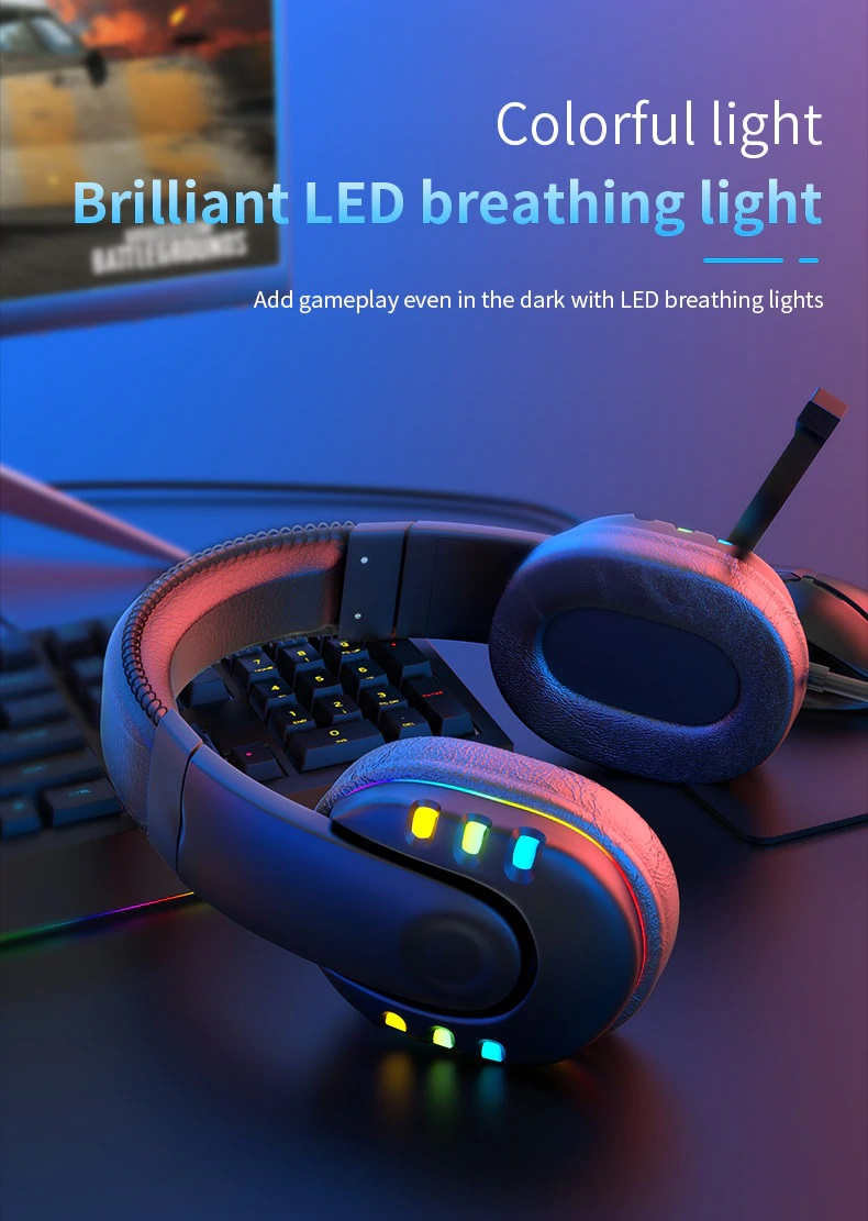 OGG Pro gaming headset colorful light