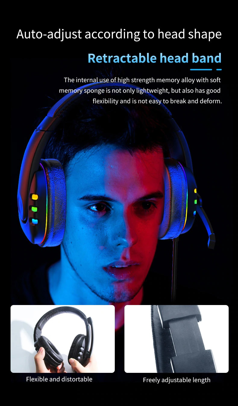 OGG Pro gaming headset flexible